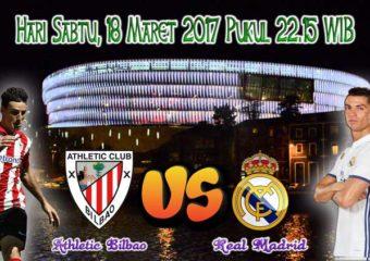Prediksi Skor Athletic Bilbao vs Real Madrid 18 Maret 2017