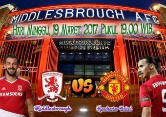 Prediksi Skor Middlesbrough vs Manchester United 19 Maret 2017